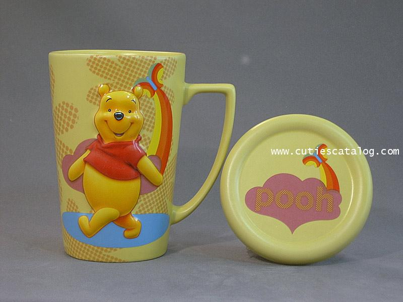 แก้วดิสนีย์ ชุดมีฝาปิด ลายหมีพูห์(pooh cover mug)
