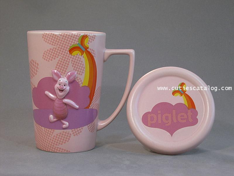 แก้วดิสนีย์ ชุดมีฝาปิด ลายพิกเลท(piglet cover mug)