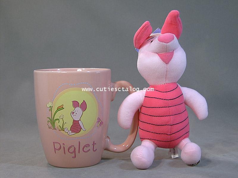 แก้วพิกเลท พร้อมตุ๊กตา(Piglet mug with doll)