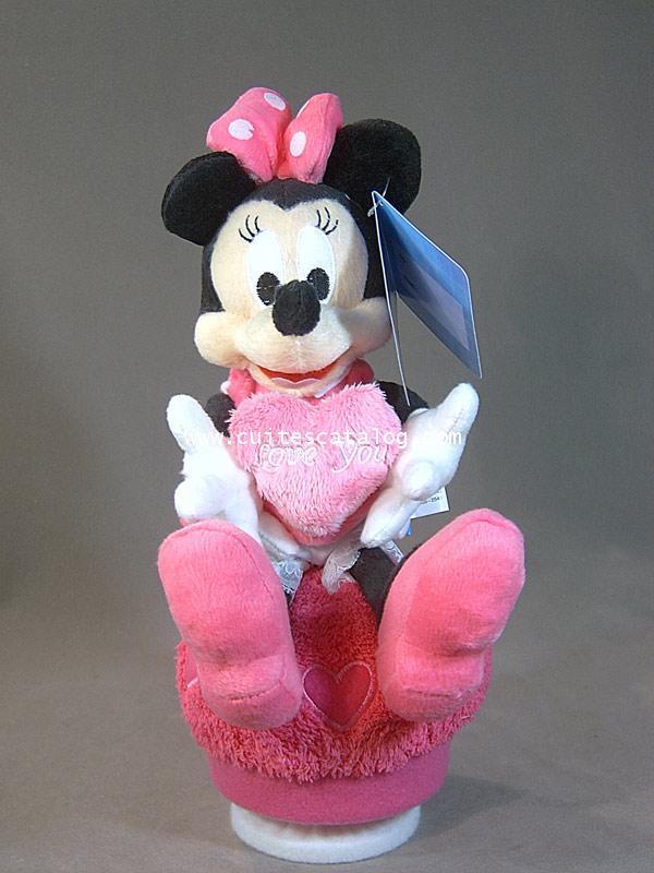 ตุ๊กตามินนี่ กล่องดนตรี ถิอหัวใจ(Minnie Doll and Music)