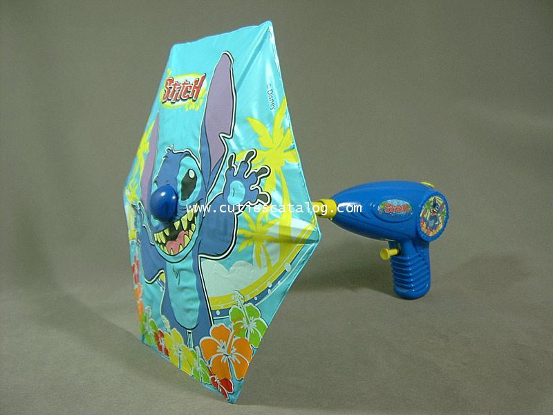 ปืนฉีดน้ำ แบบร่ม ลายสติช(Umbrella water gun)