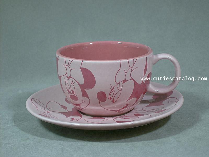 แก้วกาแฟดิสนีย์พร้อมจานรอง ลายมินนี่(Minnie)