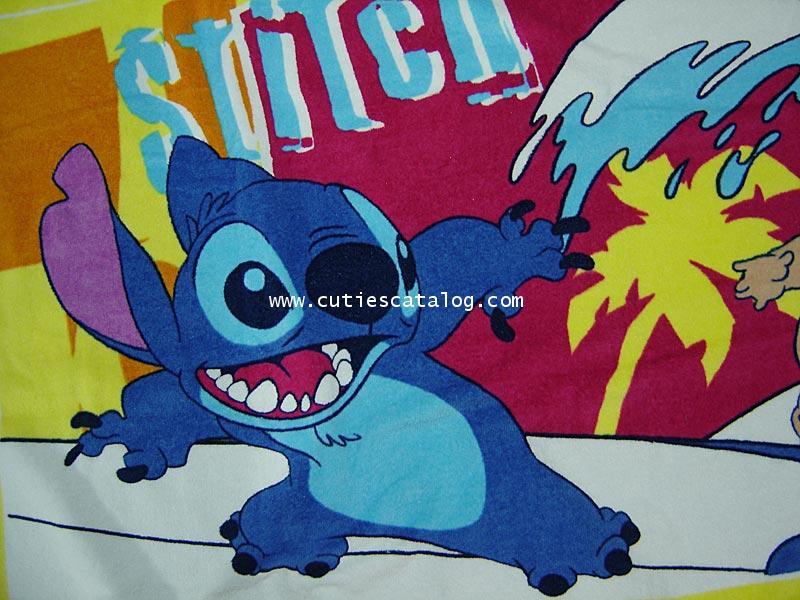 ผ้าเช็ดตัวสติช Stitch bath towel ขนาด M แบบที่ 2