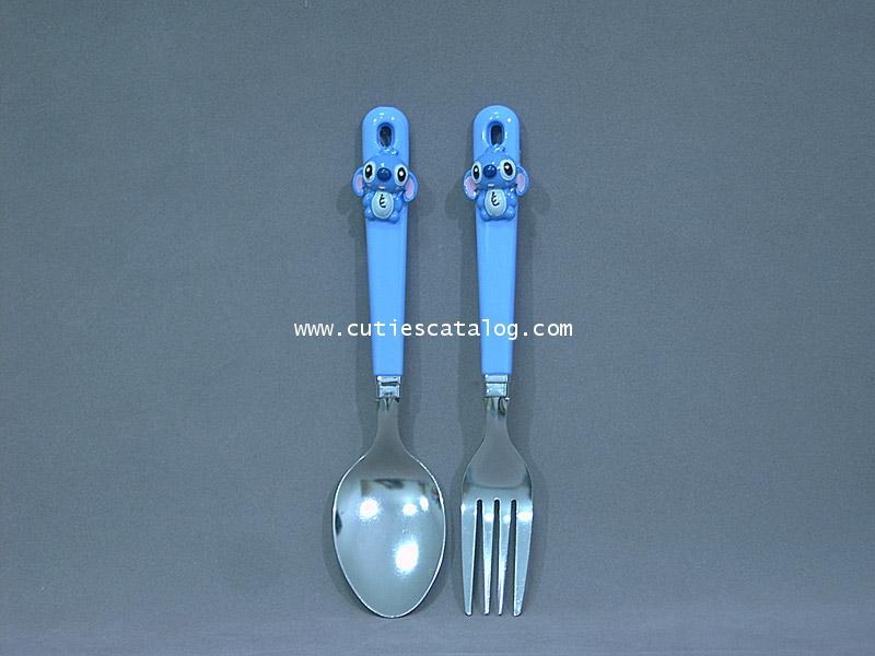 ชุดช้อนส้อมสติช Stitch spoon  fork