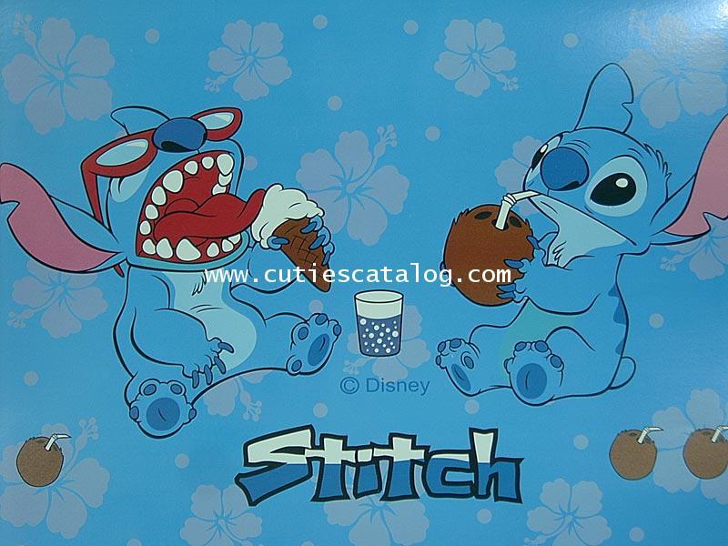 สติกเกอร์ติดโน๊ตบุ๊คลายสติช Stitch แบบ 1