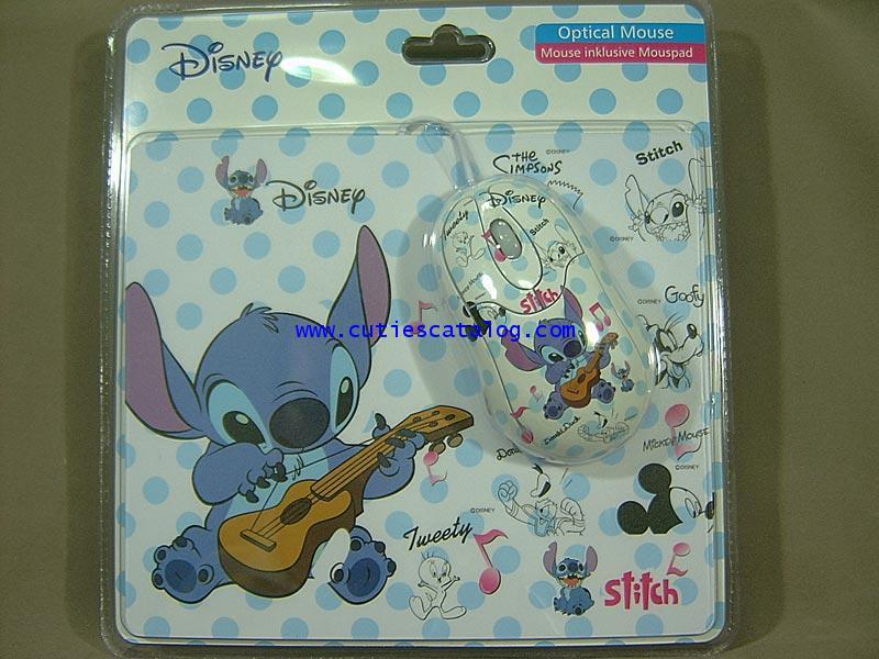 เมาส์สติช และแผ่นรองเมาส์ สติช(Stitch mouse  mousepad) แบบ 2