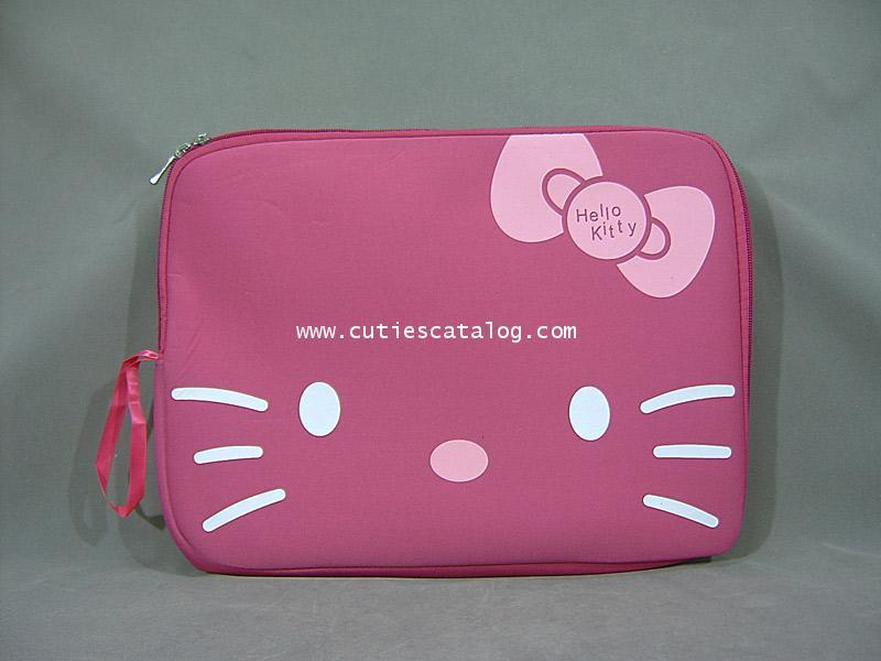 กระเป๋าโน๊ตบุ๊คคิตตี้/ซอฟท์เคสคิตตี้ Kitty softcase notebook สีชมพู ขนาด 10 นิ้ว