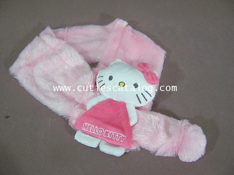 ผ้าพันคอลายคิตตี้ Kitty scarf แบบ 1