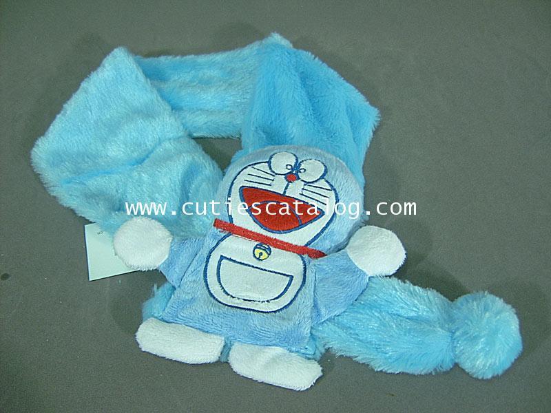 ผ้าพันคอลายโดเรมอน Doraemon scarf แบบ 1
