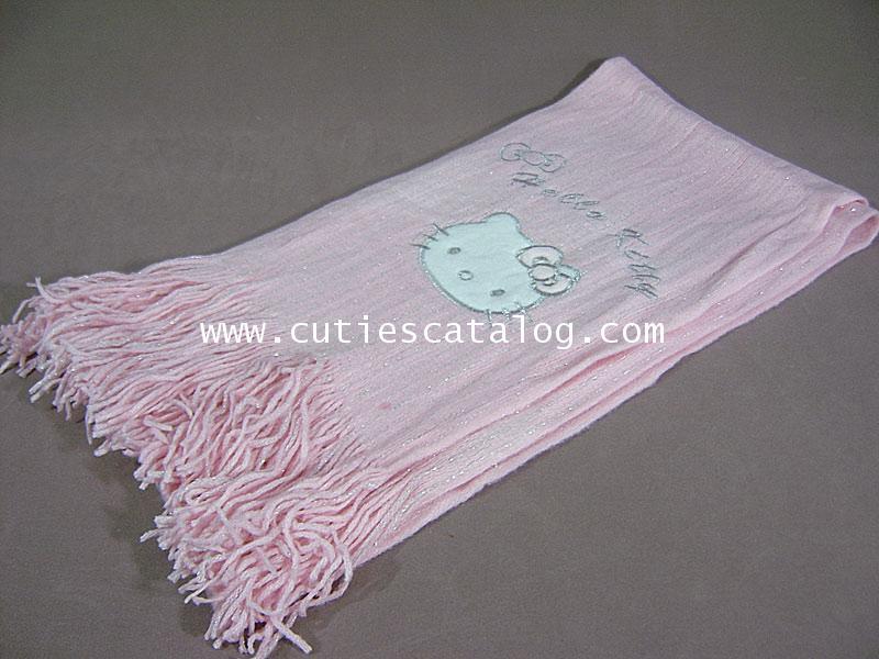ผ้าพันคอลายคิตตี้ Kitty scarf แบบ 2