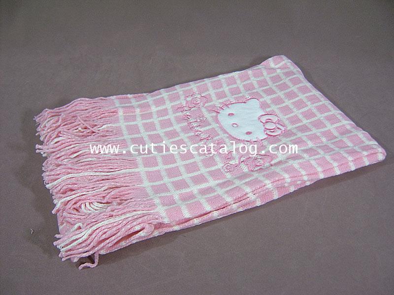 ผ้าพันคอลายคิตตี้ Kitty scarf แบบ 3