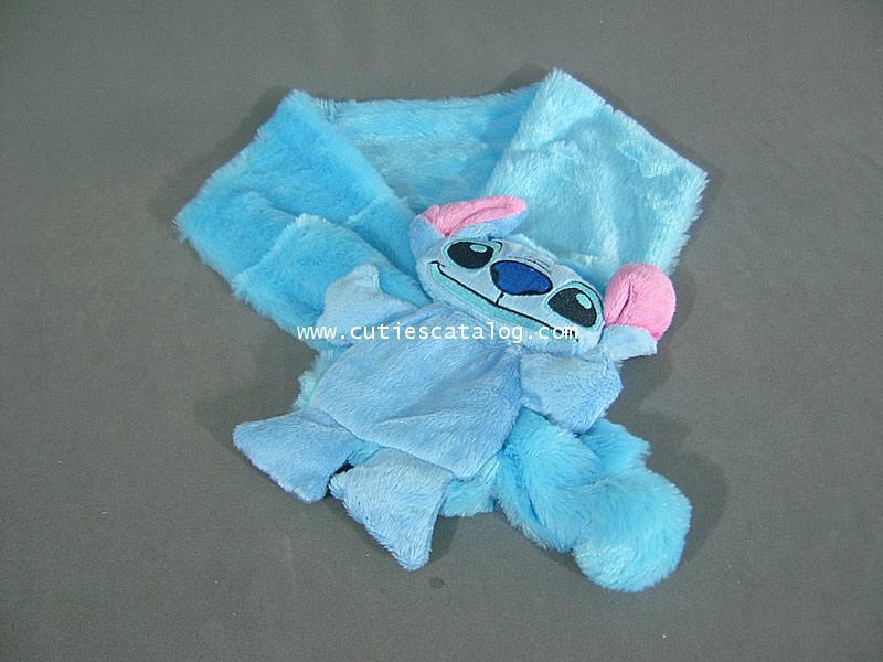 ผ้าพันคอลายสติช Stitch scarf แบบ 1