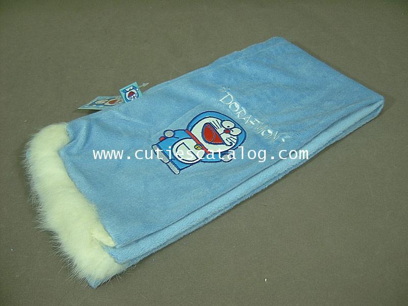 ผ้าพันคอลายโดเรมอน Doraemon scarf แบบ 2