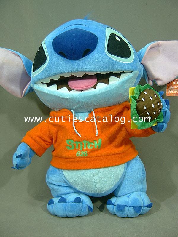 ตุ๊กตาสติช 24 นิ้ว (Stitch Doll) แบบยืนกินเบอร์เกอร์