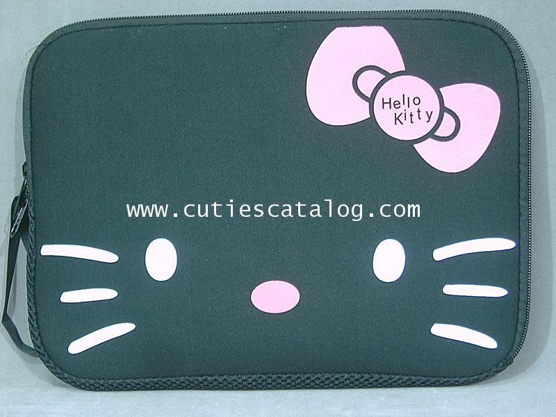 กระเป๋าโน๊ตบุ๊คคิตตี้/ซอฟท์เคสคิตตี้ Kitty softcase notebook สีดำ ขนาด 14 นิ้ว