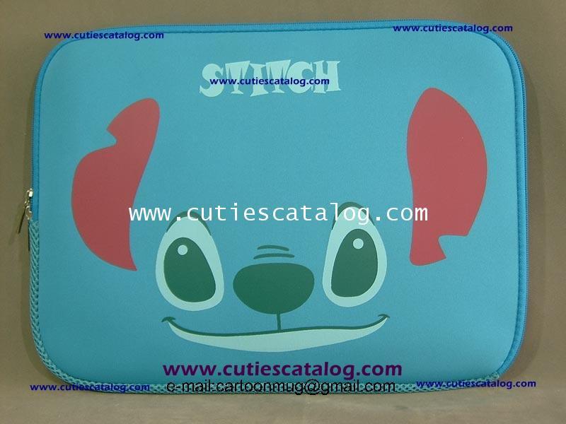 กระเป๋าโน๊ตบุ๊คสติช/ซอฟท์เคสสติช Stitch softcase notebook ขนาด 14 นิ้ว