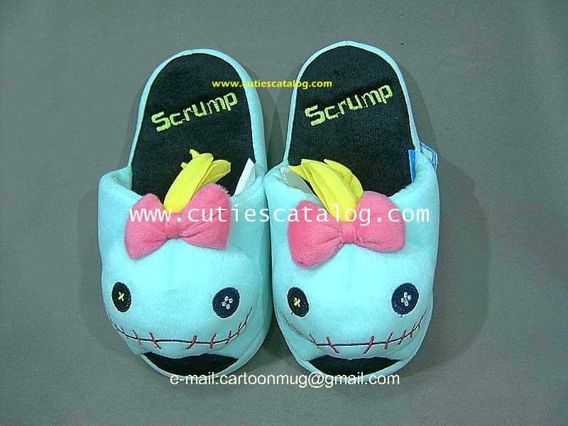 รองเท้าแตะ ลายสกั้ม แบบหนา(Scrump slippers)