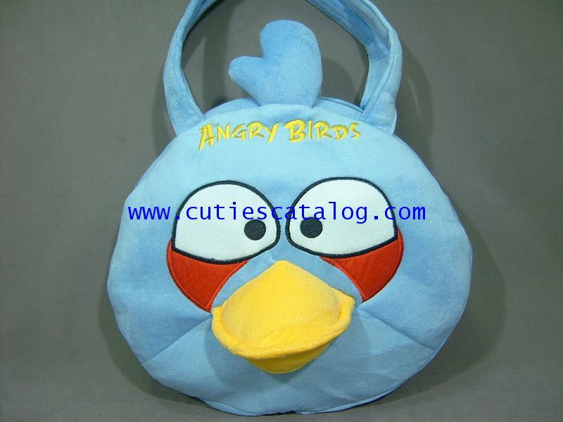 กระเป๋าสะพายแองกรีย์ เบิร์ด@นกพิโรธหมูสุดฮิต Angry birds สีฟ้า