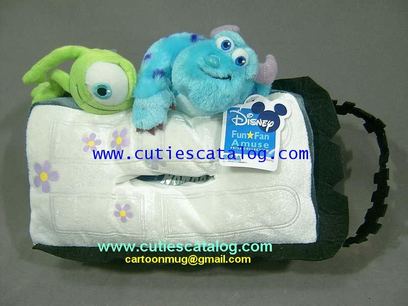 ที่ใส่กล่องทิชชูมอนเตอร์ อิงค์ แบบตัวซัลลี่ และไมค์ Monster Inc tissue case,Sully  Mike