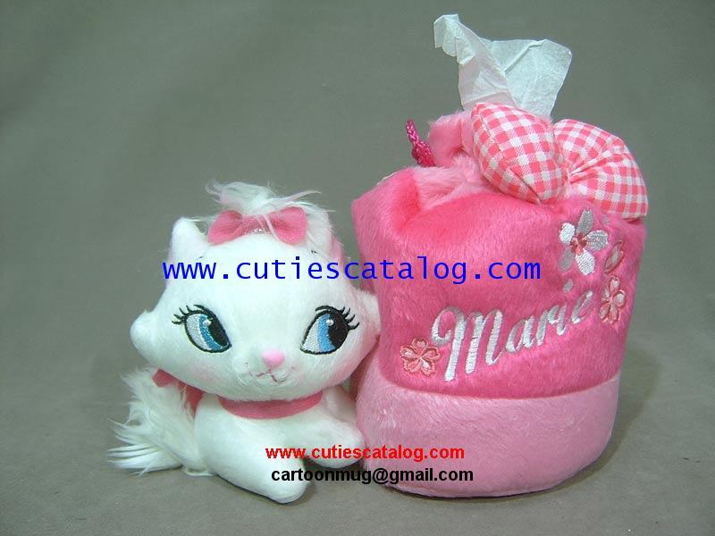 ที่ใส่ทิชชูแมวมาลี/แมวแมรี่ Marie tissue box แบบกลม(ม้วน)