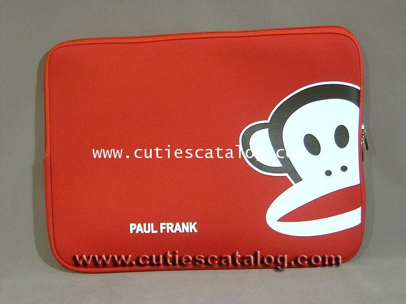 ซอฟท์เคสพอล แฟรงค์ Paul frank softcase notebook สีแดง ขนาด 14 นิ้ว