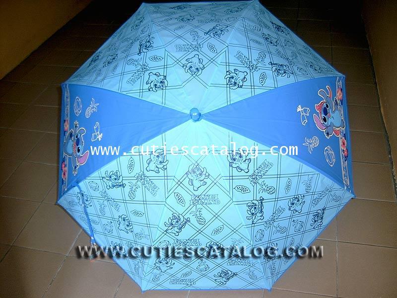 ร่มลายสติช Stitch umbrella แบบที่ 11/1 สีน้ำเงิน ลายสัปรด