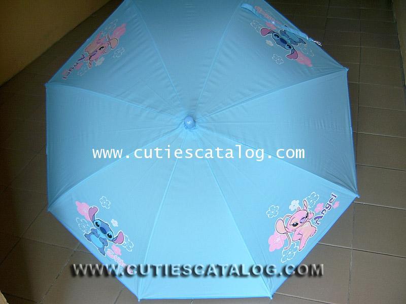 ร่มลายสติช Stitch umbrella แบบที่ 11/4 สีเขียว ลายสติช แองเจิ้ล