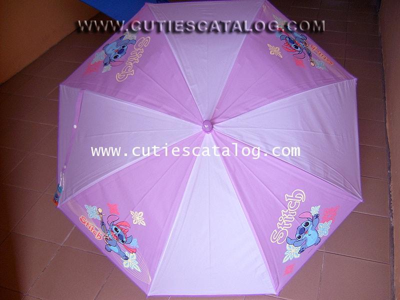 ร่มลายสติช Stitch umbrella แบบที่ 11/5 สีเขียว ลายสติช