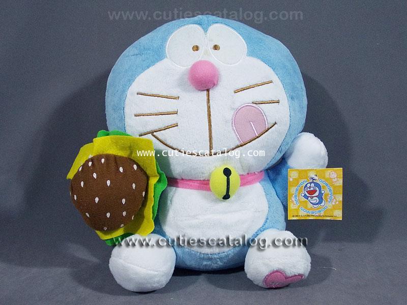 ตุ๊กตาโดเรมอน (Doraemon doll) ชุดแฟนซี แบบกินแฮมเบอเกอร์