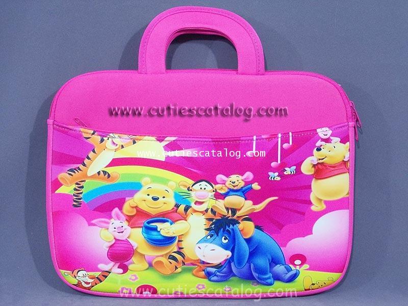 กระเป๋าโน๊ตบุ๊คหมีพูห์ / ซอฟท์เคสหมีพูห์ Pooh Notebook case