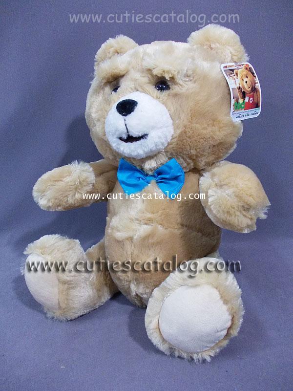 ตุ๊กตาหมี เท็ด ted @ เท็ด หมีไม่แอ็บ แสบได้อีก ted ขนาด M ท่านั่ง แบบ 2(โบว์ฟ้า)