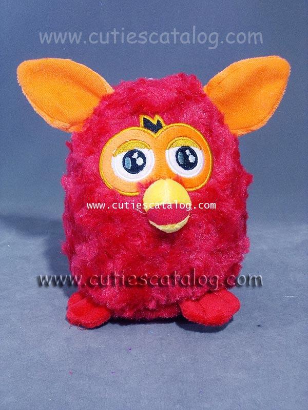 ตุ๊กตาเฟอร์บี้ Furby doll แบบผ้า สีแดง