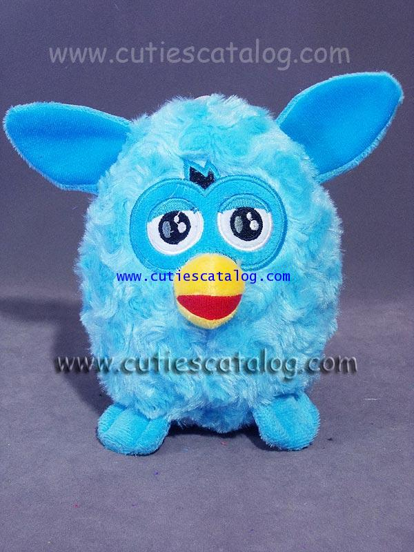 ตุ๊กตาเฟอร์บี้ Furby doll แบบผ้า สีฟ้า