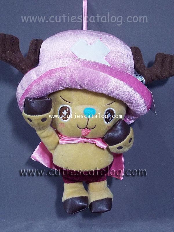 ตุ๊กตาช็อปเปอร์ ขนาด M1 ตุ๊กตาโทนี่ โทนี่ Tony tony Chopper ชุดชมพู @ จากเรื่องวันพีช One Piece