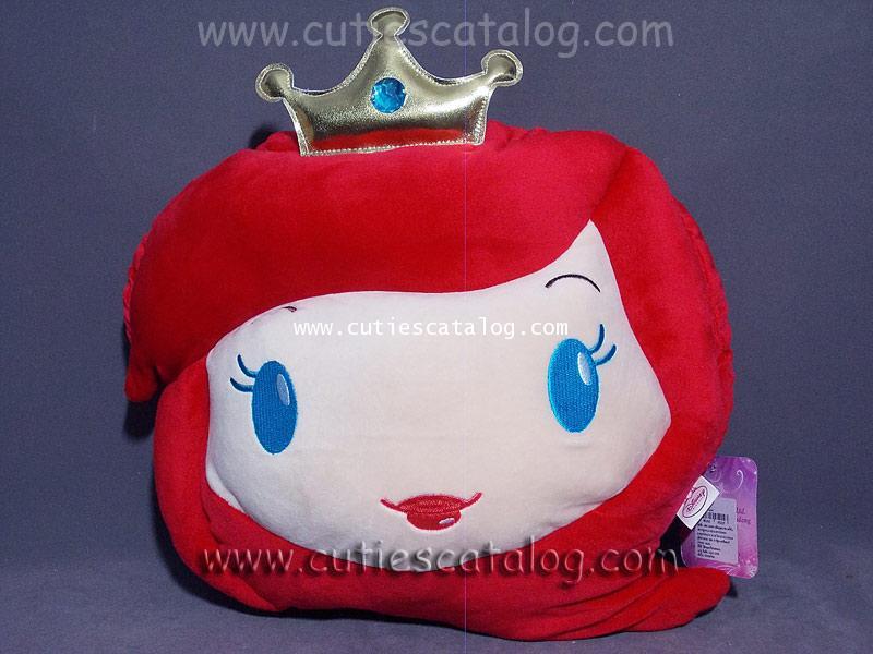 หมอนอิง/พิง เจ้าหญิงแอเรียล Ariel Princess แบบหน้า 3D