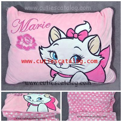 หมอนผ้าห่มแมวมาลี / ตุ๊กตาแมวแมรี่ Marie Cushion