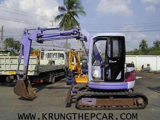 .ขาย รถขุด (แบคโฮล) KOMATSU PC50UU มีเก๋ง นำเข้า แขนปรับตำแหน่งได้ เหมาะทำงานในซอยหรือที่แคบๆ $A13