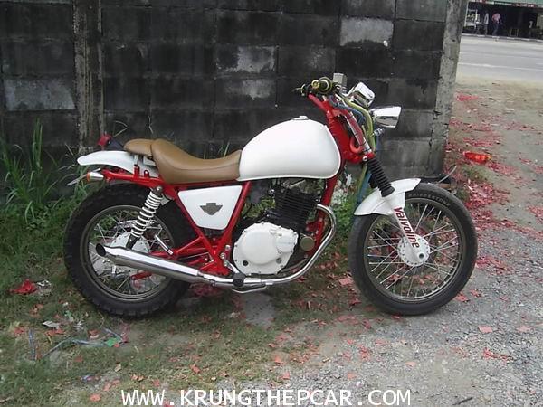 .ขาย รถ มอเตอร์ไซด์ SUZUKI VOLTY 250cc 4จังหวะ สีขาวแดง ชุดแต่งเพียบ คันเดียวในไทย $A06-S5AS-