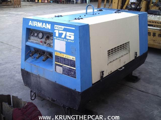 P6PT .ขาย ปั๊มลม เครื่องอัดอากาศ AIR COMPRESSOR AIRMAN PDS175 สภาพเดิมจากญี่ปุ่น $A13