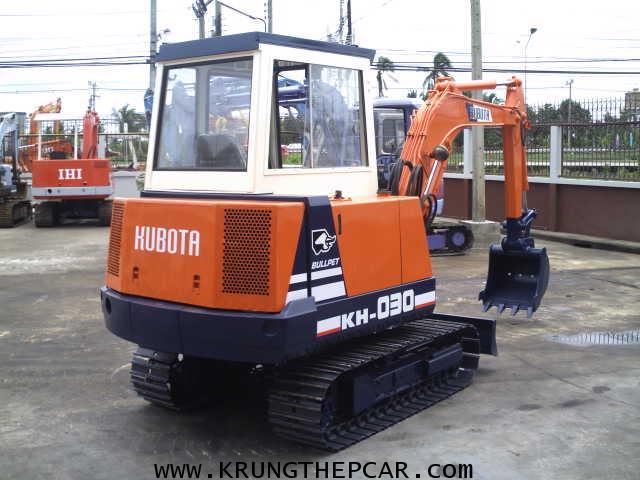 .ขาย รถขุด KUBOTA KH030 มีหัวเก๋ง ขนาดPC30 สภาพใช้น้อยมาก สวยจัด ทำงานเร็วเดินไว $A13-P6AT- 3