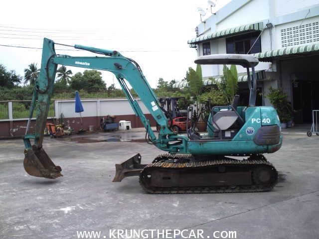 .ขายรถขุด KOMATSU PC40-7 ตีนเหล็ก ทำสีให้ใหม่ มือสองญี่ปุ่น ราคา $A13-P6