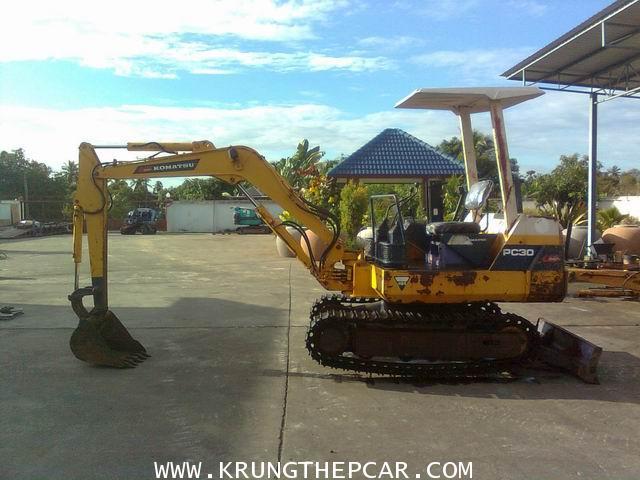 .ขายรถขุดKOMATSU PC30-6 ตีนเหล็ก นำเข้าจากญี่ปุ่น ไม่เคยใช้งานในไทย มือสองราคา$A13N6S