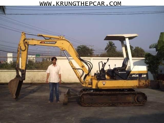 .ขายรถขุด(แบ็กโฮล)KOMATSU PC40-6 ตีนเหล็ก สีเดิม เป็นรถนำเข้า พร้อมใช้งานทันที $A13-P6SQ
