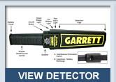 อุปกรณ์ตรวจโลหะ Hand Scan Garrett 1165180