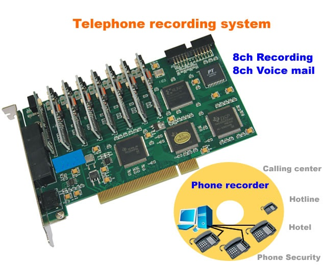 Telephone recorder Voice mail 8 channel รุ่น LK-V08