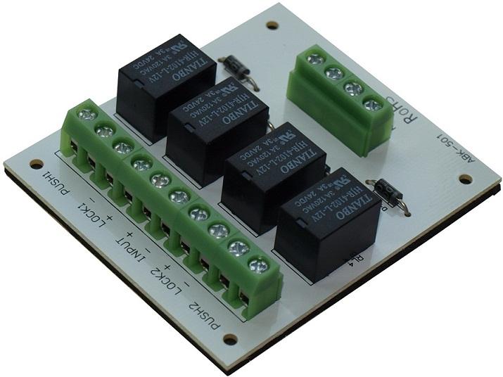 อินเตอร์ล็อค คีย์การ์ดอินเตอร์ล็อค สำหรับประตู 2 บาน Interlock door module ราคาถูกกว่าทำเอง