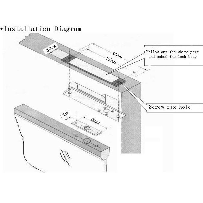 กลอนสลักประตูไฟฟ้าสำหรับคีย์การ์ด ประตูกระจก ล็อกประตูไฟฟ้า  Electric deadbolt for access control 8