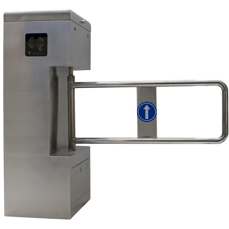 เครื่องกั้นประตูกั้นคนแบบผลักเข้าออกสวิง swing turnstile gate 1