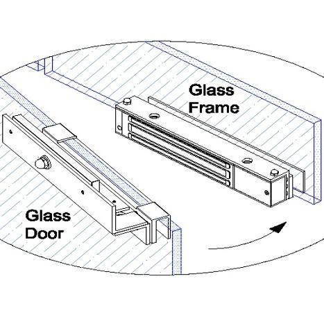EM Lock Bracket DSU-600 ครอบกระจกสำหรับกลอนประตูไฟฟ้า ช่องว่าง น้อยกว่า 4 มิล ใส่ได้ 3