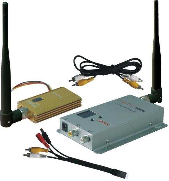Wirelese camera กล้องไร้สาย 1.2GHz รุ่น CS-B15 ต่อได้8กล้อง 2,500 เมตร กล่องรับส่งสัญญาณไวไฟ